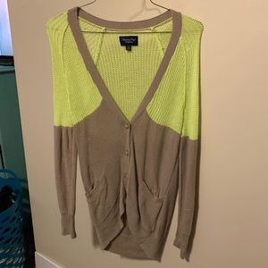 AE Cardigan, two toned